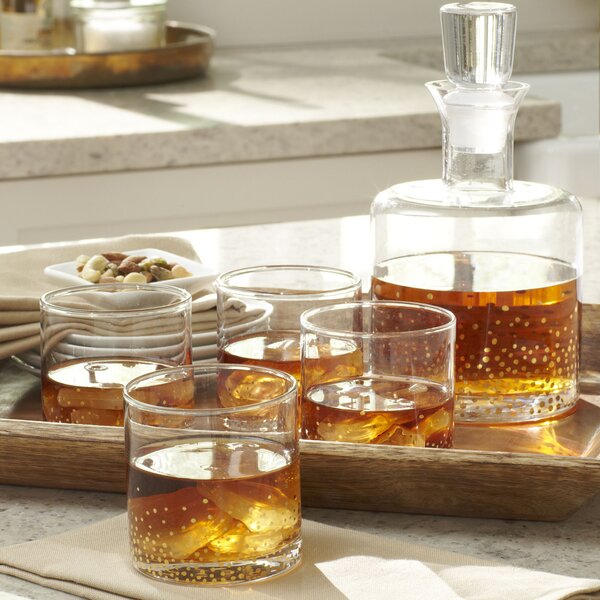 Medina 5-Piece Square Decanter Set by Birch Lane™