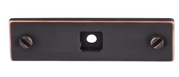 Barrington Channing Knob Backplate by Top Knobs