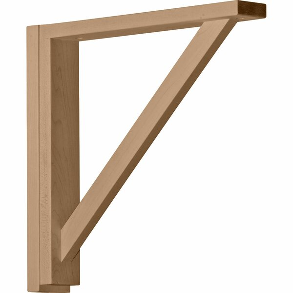 Traditional 14 1/4H x 2 1/2W x 14 3/4D Shelf Bracket in Alder by Ekena Millwork