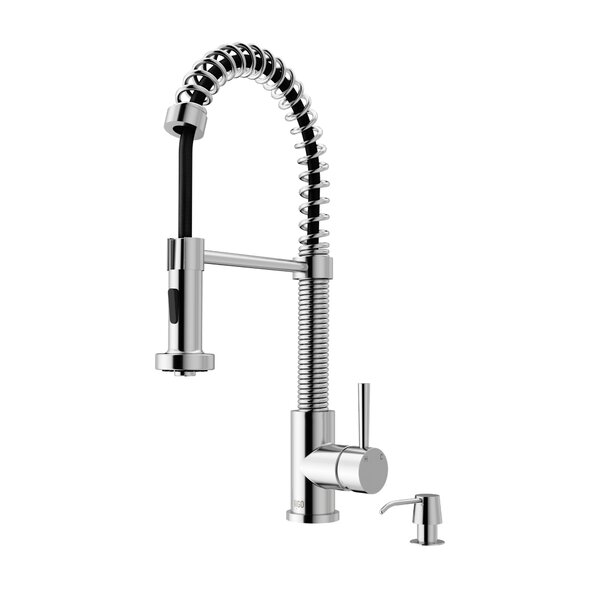 Edison Pull Down Single Handle Kitchen Faucet by V