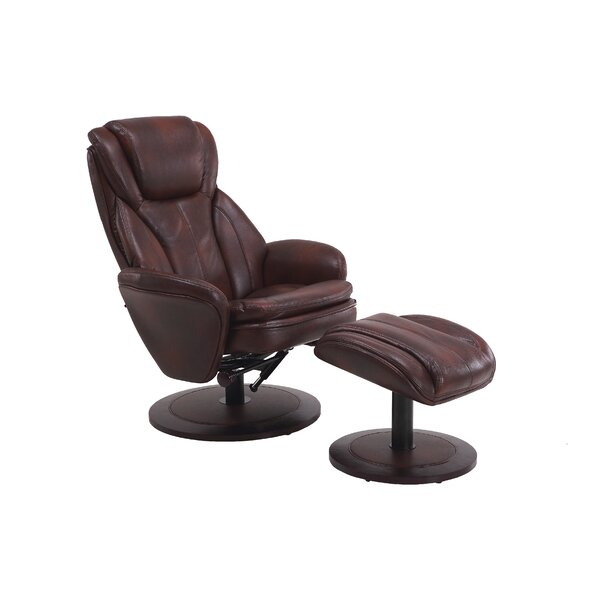Cush Manual Swivel Recliner With Ottoman by Comfort Chair