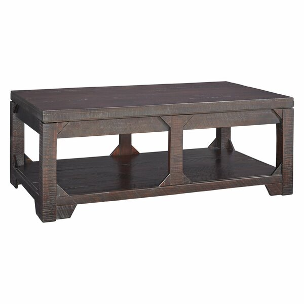 Woodbine Solid Wood Lift Top 4 Legs Coffee Table With Storage By 17 Stories