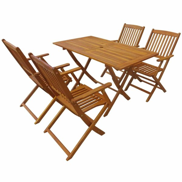 Speicher Outdoor Folding 5 Piece Dining Set by Highland Dunes