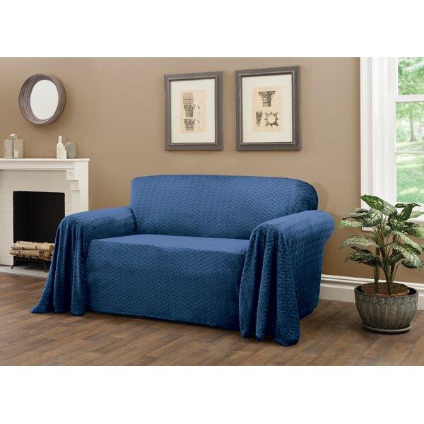 Box Cushion Loveseat Slipcover By Freeport Park