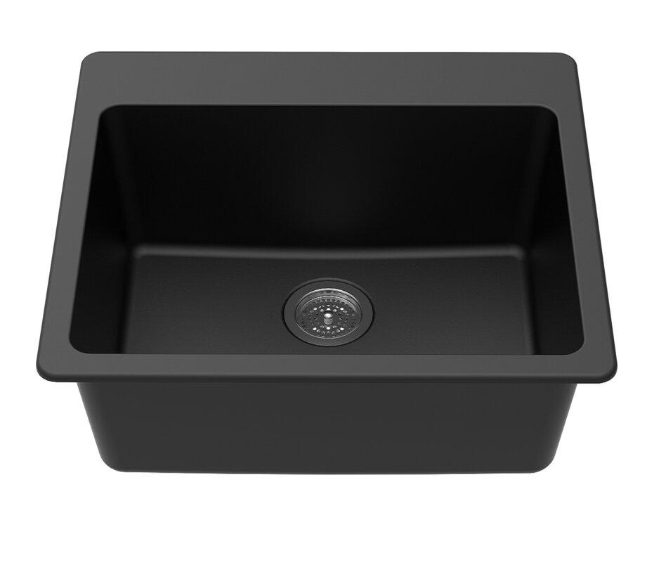 Winpro granite quartz 25 x 22 single bowl drop in kitchen sink granite quartz 25 x 22 single bowl drop in kitchen sink workwithnaturefo