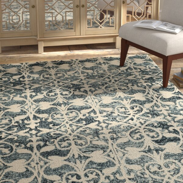Greenmarket Hand-Tufted Charcoal/Ivory Area Rug by Bungalow Rose