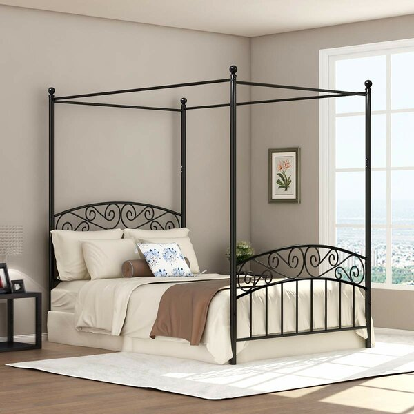 Garden City Full Canopy Bed by Red Barrel Studio