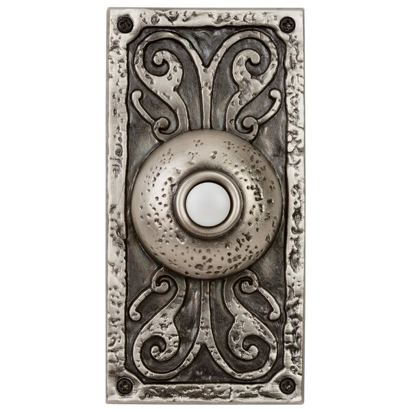 Surface Mount Doorbell in Antique Pewter by Fleur De Lis Living