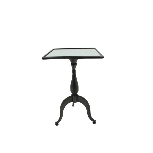 Alma Iron Square End Table by Charlton Home