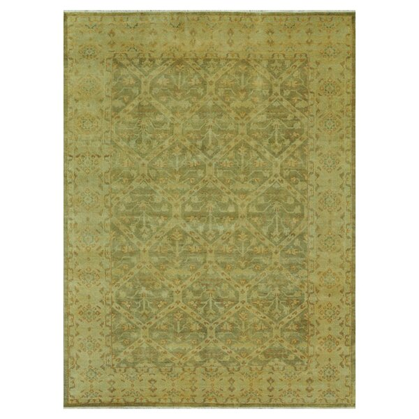 Kirtley Hand Knotted Wool Moss Area Rug by Charlton Home