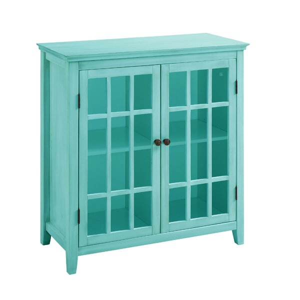 Gennessee Wooden 2 Door Accent Cabinet by Highland Dunes Highland Dunes