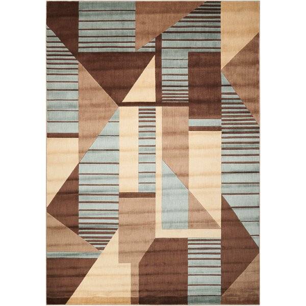 Minnie Brown/Blue Area Rug by Latitude Run