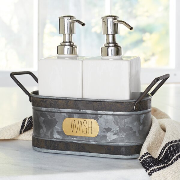 Rustic Farmhouse 3 Piece Soap Dispenser Set by Mud