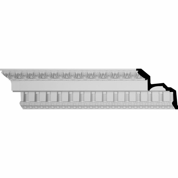 Dentil 7 3/4H x 95 3/4W x 8 3/4D Crown Molding by Ekena Millwork