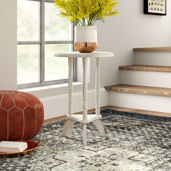 Lynn Unfinished Parawood Plant Stand by Mistana