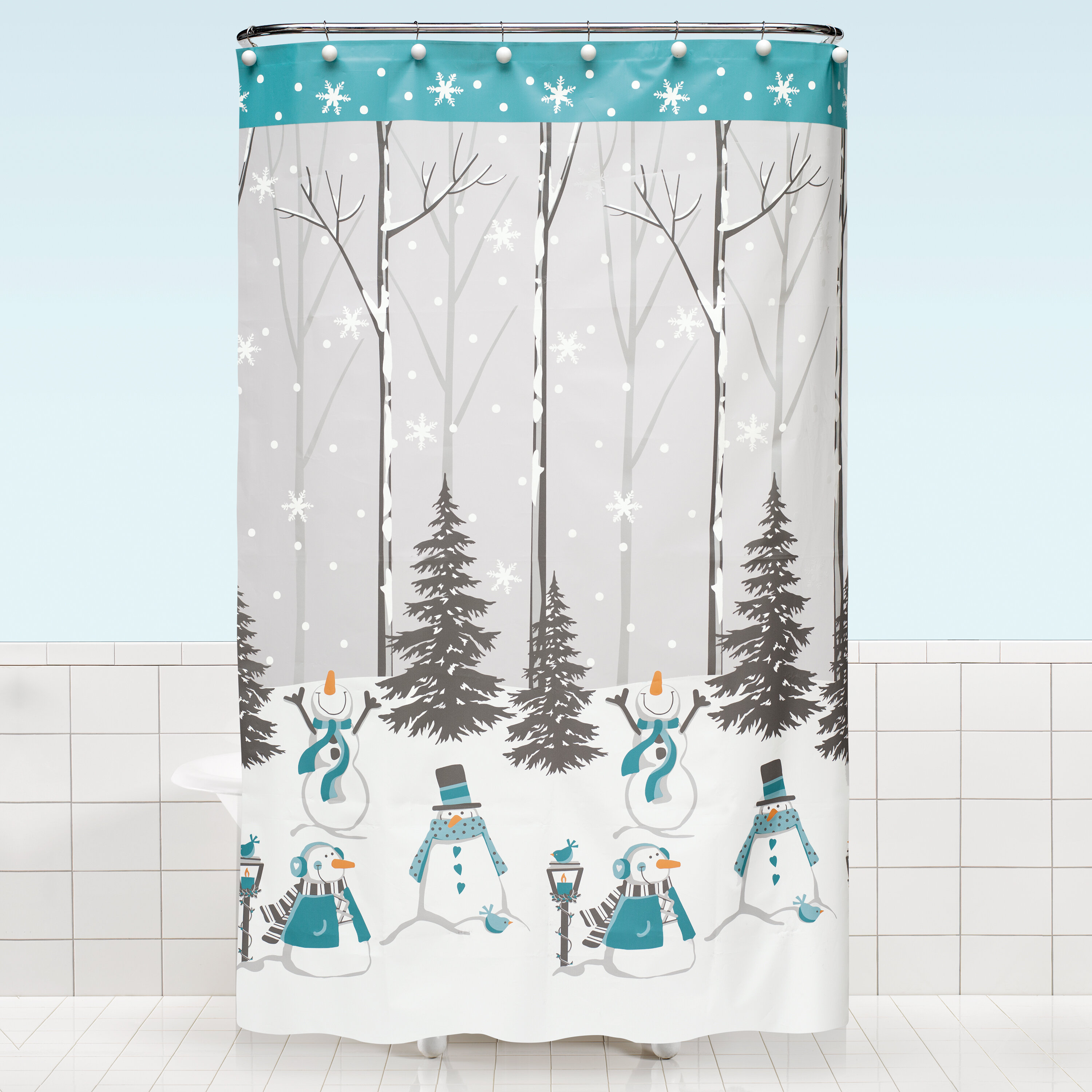 The Holiday Aisle Bray Vinyl Shower Curtain Reviews