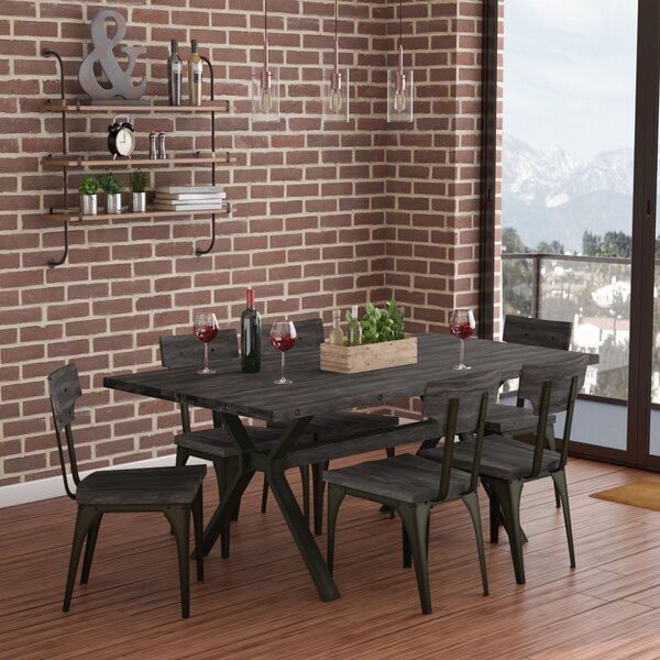 Darcelle 7 Piece Solid Birch Dining Set by 17 Stories
