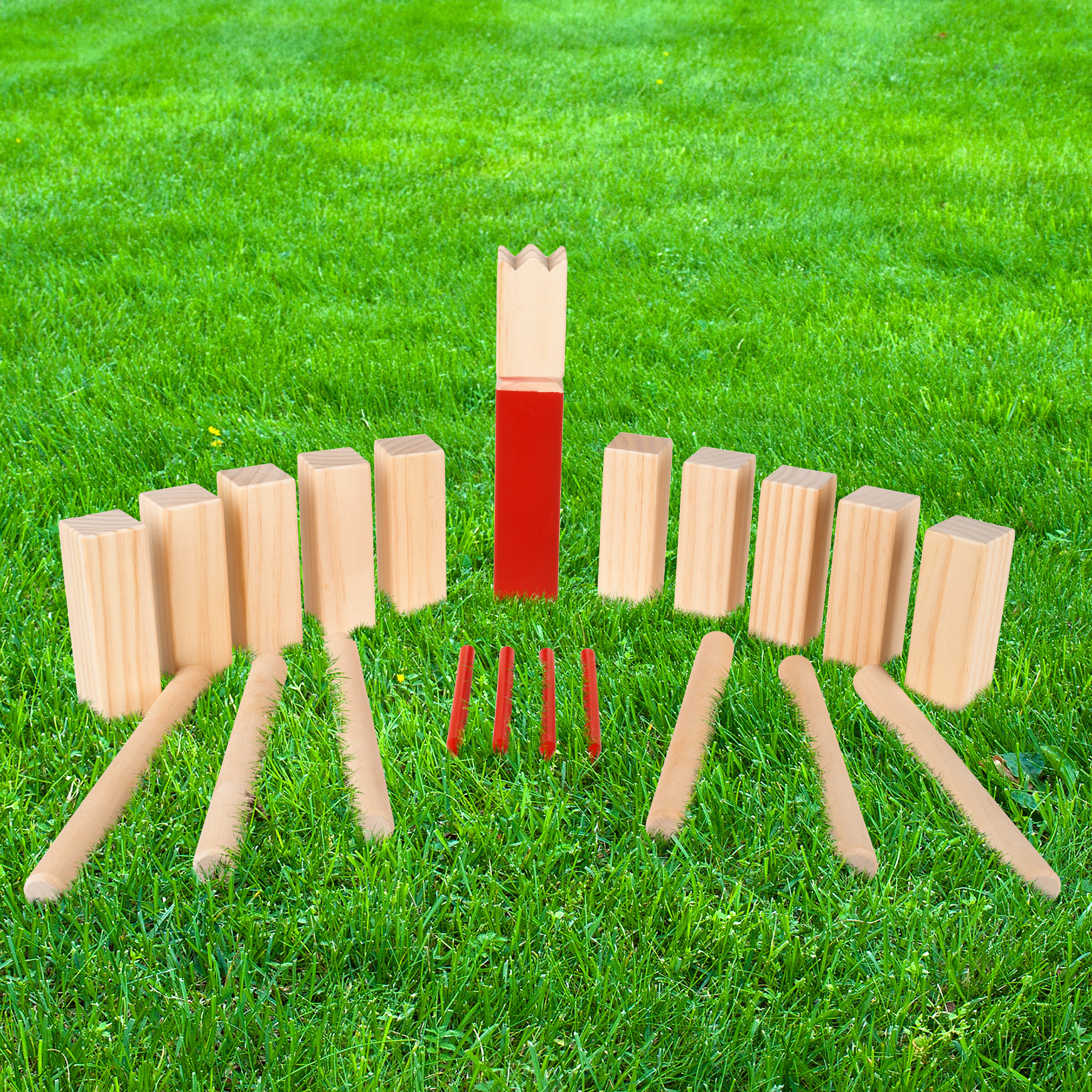 Kubb Viking Chess Lawn Game All Wood Back Yard Games Kubb Game Premium Set Beach Sporting Goods Other Backyard Games Romeinformation It