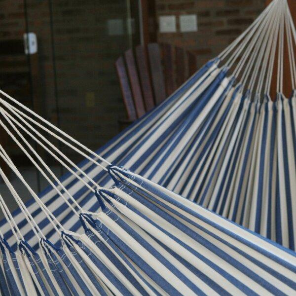 Fair Trade Single-Person Striped Hand Woven Brazilian Cotton Tree Hammock by Novica