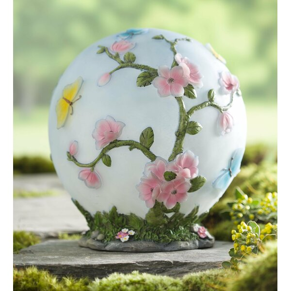 Glowing LED Cherry Blossom Garden Globe by Plow & Hearth