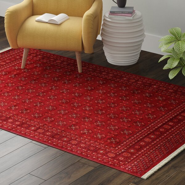 Kowloon Dark Red Area Rug by World Menagerie
