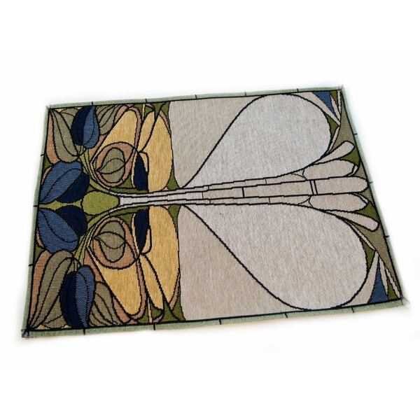 Arts and Crafts Art Nouveau Floral Window Placemat (Set of 4) by Rennie & Rose Design Group