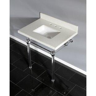 Comparison Templeton Stone Rectangular Undermount Bathroom Sink with Overflow ByKingston Brass