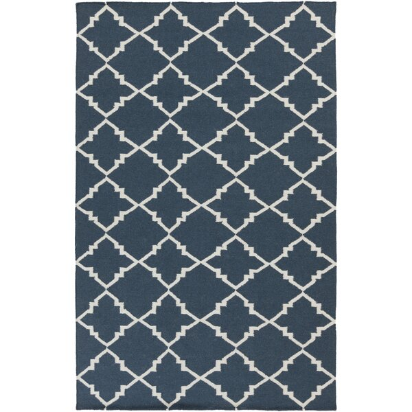 Darby Hand-Woven Navy Area Rug by Birch Lane™