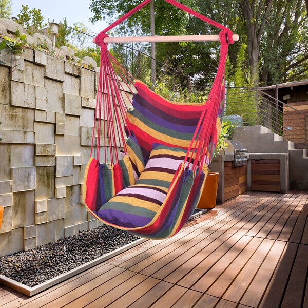 Harner Hanging Rope Seat Chair Hammock by Brayden Studio