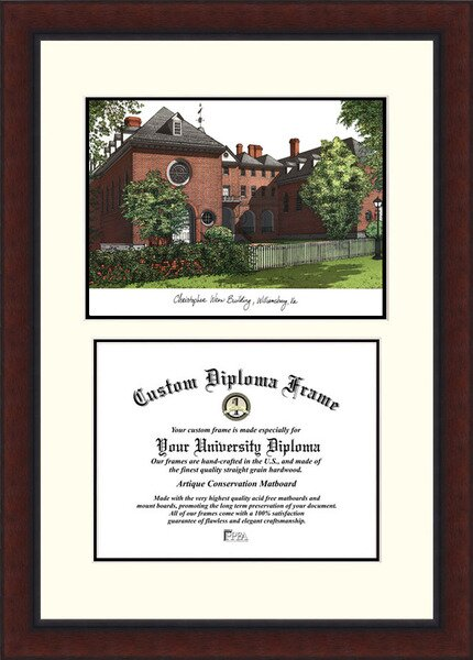 NCAA College of William and Mary Legacy Scholar Diploma Picture Frame by Campus Images