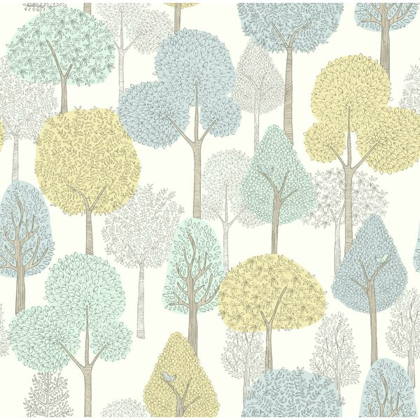Baby Kids Treetops 33 X 20 5 Wallpaper Roll By Dwellstudio.