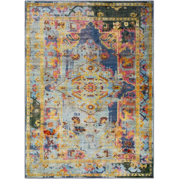 Wyclif Blue Lime Area Rug By Bungalow Rose.