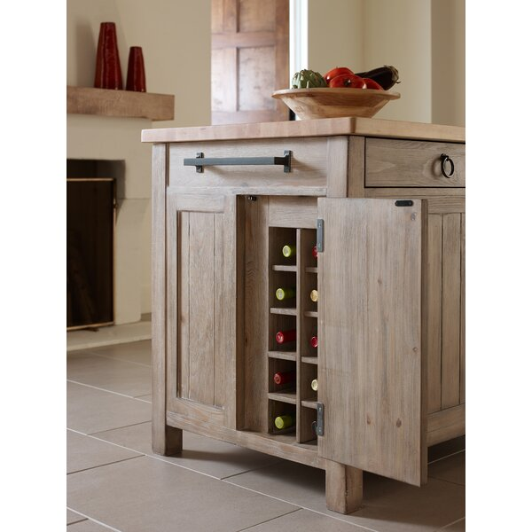 Monteverdi Kitchen Island with Butcher Block Top by Rachael Ray Home