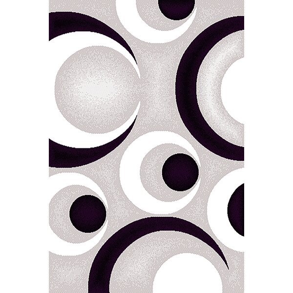 Coster Gray/Purple Area Rug by Ebern Designs