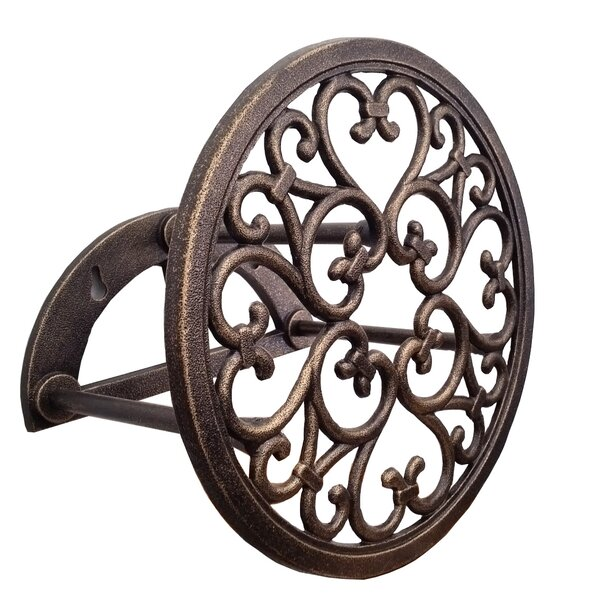 Classic Cast Aluminum Wall Mounted Hose Holder by Innova Hearth and Home