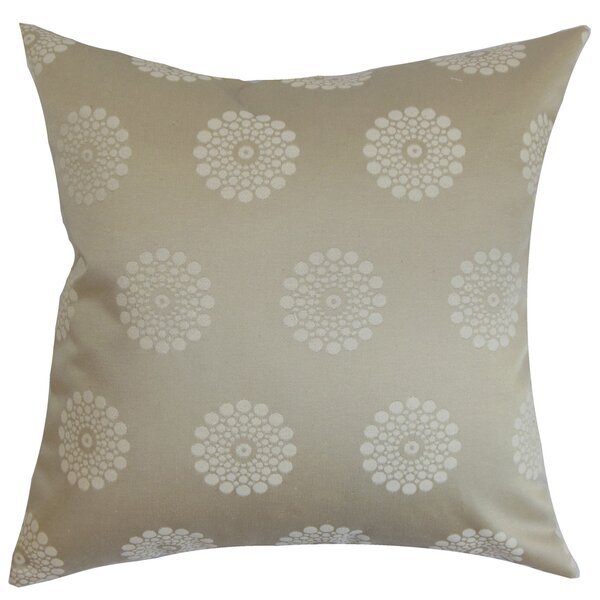 Flix Geometric Cotton Throw Pillow by The Pillow Collection