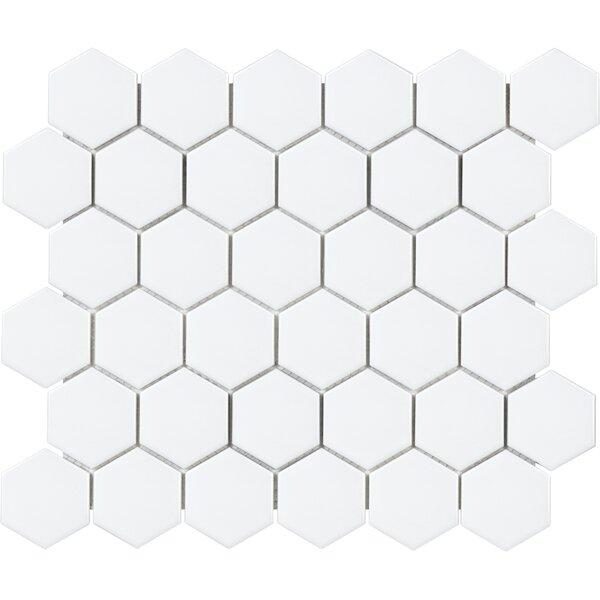 Sail 2 x 2 Ceramic/Porcelain Mosaic Tile in Matte White by Parvatile