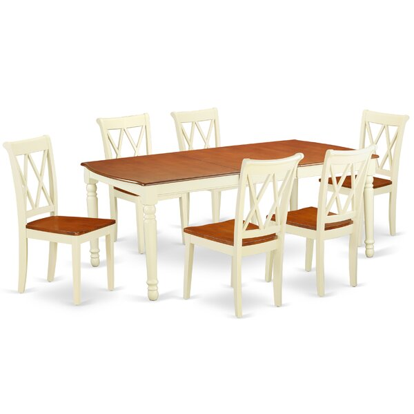 Krout 7 Piece Extendable Solid Wood Dining Set by August Grove