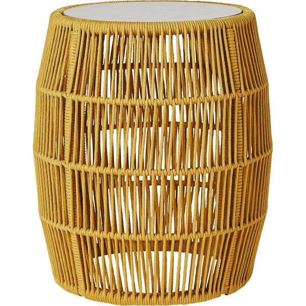 Fern Drum End Table By Bungalow Rose