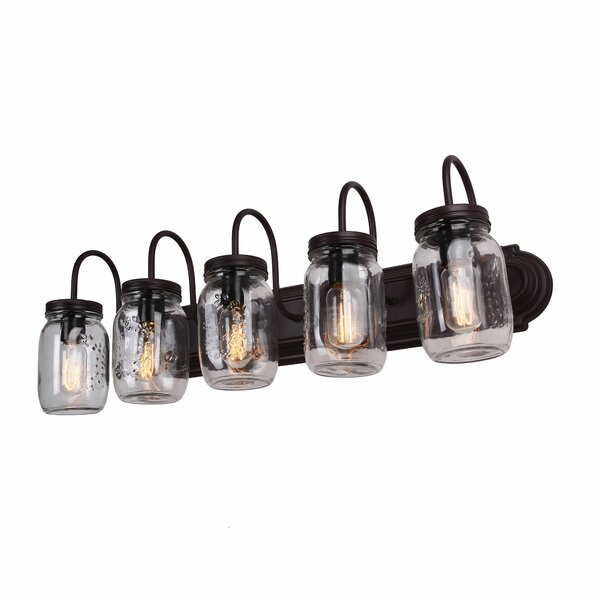 Benefield Mason Jar 5-Light Vanity Light by Williston Forge