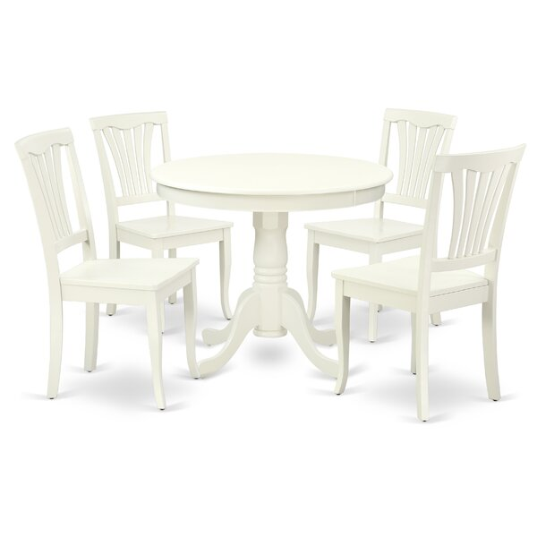 Korando 5 Piece Solid Wood Breakfast Nook Dining Set by August Grove