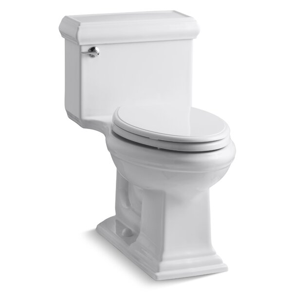 Memoirs Classiccomfort Height One-Piece Elongated 1.28 GPF Toilet with Aquapiston Flush Technology and Left-Hand Trip Lever by Kohler