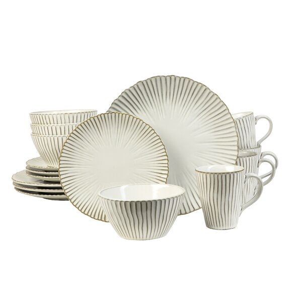 Portura 16 Piece Dinnerware Set, Service for 4 by Sango