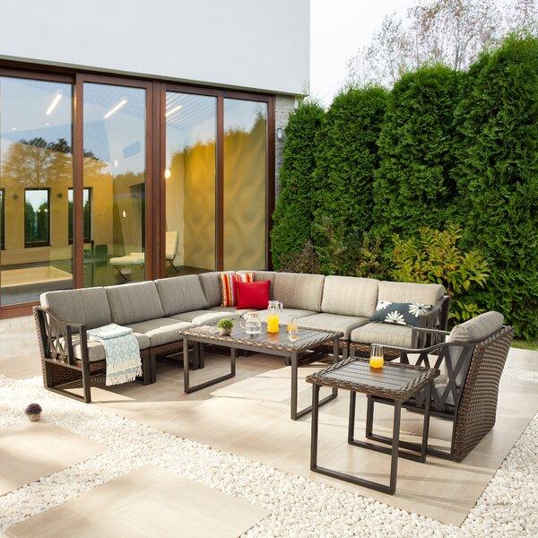 Manawa patio 4 piece rattan sofa seating group with cushions
