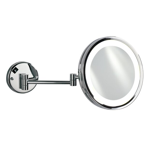 Hotwells Cosmetic 5x Magnifying Modern & Contemporary Lighted Bathroom/Vanity Mirror