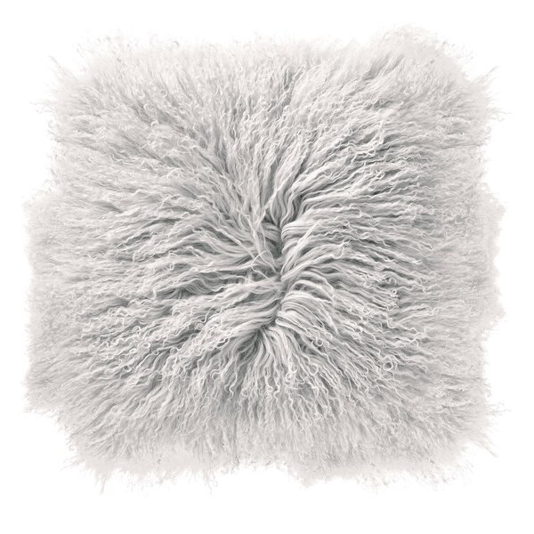 Borealis Lamb Fur Throw Pillow by Everly Quinn