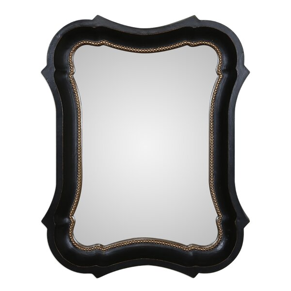 Irregular Black Wall Mirror by House of Hampton