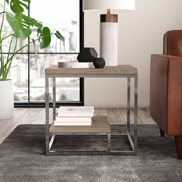 Philippos Frame End Table With Storage By Mercury Row