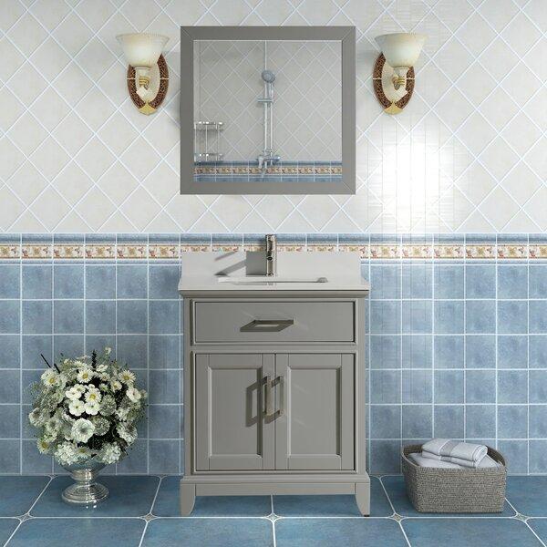 Cloran 24 Single Bathroom Vanity Set with Mirror