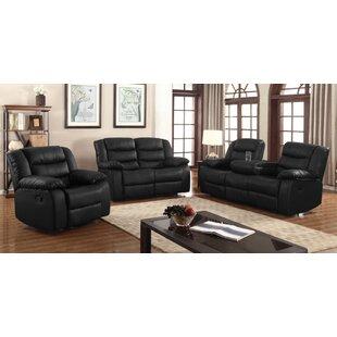 Hamlin Reclining 3 Piece Living Room Set by Red Barrel Studio®
